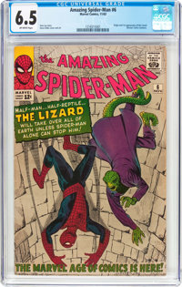 The Amazing Spider-Man #6 (Marvel, 1963) CGC FN+ 6.5 Off-white pages
