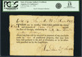 """Colonial Notes:Georgia, State of Georgia - Certificate """"...in payment of any purchases made by__ of confiscated property"""" at Augusta 59 Pounds 14 Shil..."""