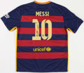 Autographs:Others, Lionel Messi Signed FC Barcelona Jersey. ...