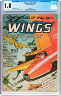 Golden Age (1938-1955):War, Wings Comics #30 (Fiction House, 1943) CGC GD- 1.8 Brittle pages....