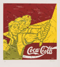 Prints & Multiples, Wang Guangyi (Chinese, b. 1957-). Coca Cola (red), from The Great Criticism series, 2006. Lithograph in colors on wo...