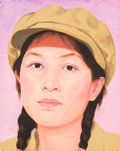 Paintings, Qi Zhilong (Chinese, b. 1962-). Untitled (from Chinese Girl series), 1996. Oil on canvas. 16-1/4 x 13 inches (41.1 x 33....