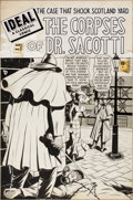 "Original Comic Art:Covers, Ideal #2 ""The Corpses of Dr. Sacotti"" Cover Original Art (Marvel,1948)...."