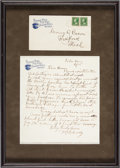 """Autographs:Celebrities, William F. """"Buffalo Bill"""" Cody: Autograph Letter Signed withEnvelope...."""