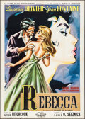 "Movie Posters:Hitchcock, Rebecca (United Artists, R-1958). Italian 2 - Fogli (39.5"" X 55"").Hitchcock.. ..."