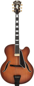 Musical Instruments:Electric Guitars, George Benson:1980 D'Aquisto Sunburst Excel Archtop ElectricGuitar, Serial #1144....