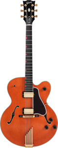 Musical Instruments:Electric Guitars, George Benson's 1989 Gibson Chet Atkins Country Gentleman OrangeSemi-Hollow Body Electric Guitar, Serial #82419552....