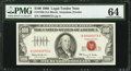 Small Size:Legal Tender Notes, Low Serial Number 00000075 Fr. 1550 $100 1966 Legal Tender Note. PMG Choice Uncirculated 64.. ...