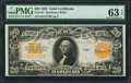 Large Size:Gold Certificates, Fr. 1187 $20 1922 Gold Certificate PMG Choice Uncirculated 63 EPQ.....