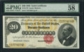 Large Size:Gold Certificates, Fr. 1178 $20 1882 Gold Certificate PMG Choice About Unc 58 EPQ.....