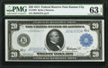 Fr. 1002 $20 1914 Federal Reserve Note PMG Choice Uncirculated 63 EPQ
