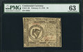 Colonial Notes:Continental Congress Issues, Continental Currency February 17, 1776 $8 PMG Choice Uncirculated 63.. ...