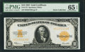 Large Size:Gold Certificates, Fr. 1173 $10 1922 Gold Certificate PMG Gem Uncirculated 65 EPQ.. ...