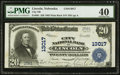 National Bank Notes:Nebraska, Lincoln, NE - $20 1902 Plain Back Fr. 661 City NB Ch. # 13017. ...