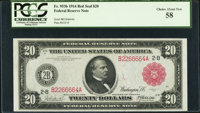 Fr. 953b $20 1914 Red Seal Federal Reserve Note PCGS Choice About New 58