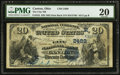 Canton, OH - $20 1882 Date Back Fr. 555 The City NB Ch. # (M)2489