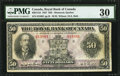 Canadian Currency: , Montreal, PQ- The Royal Bank of Canada $50 Jan. 3, 1927 Ch. #630-14-16.. ...