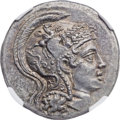 Ancients:Greek, Ancients: IONIA. Heraclea ad Latmun. Ca. 150-142 BC. AR tetradrachm(27mm, 16.67 gm, 11h). NGC MS 4/5 - 5/5....