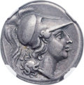 Ancients:Greek, Ancients: CAMPANIA. Cales. Ca. 265-240 BC. AR didrachm (23mm, 7.23gm, 5h). NGC Choice VF ★ 5/5 - 5/5, Fine...