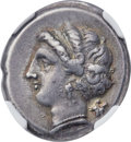 Ancients:Greek, Ancients: CAMPANIA. Neapolis. Ca. 275-250 BC. AR didrachm (23mm,7.36 gm, 6h). NGC Choice VF ★ 5/5 - 5/5, F...