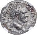 Ancients:Roman Imperial, Ancients: Vespasian (AD 69-79). AR denarius (19mm, 3.43 gm, 6h).NGC Choice AU 4/5 - 3/5....