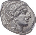 Ancients:Greek, Ancients: ATTICA. Athens. Ca. 454-404 BC. AR tetradrachm (24mm, 17.22 gm, 9h). NGC MS ★ 5/5 - 5/5....