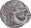 Ancients:Greek, Ancients: ATTICA. Athens. Ca. 454-404 BC. AR tetradrachm (23mm,17.20 gm, 10h). NGC MS 5/5 - 5/5....