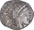 Ancients:Greek, Ancients: ATTICA. Athens. Ca. 454-404 BC. AR tetradrachm (24mm,17.21 gm, 10h). NGC MS 5/5 - 5/5. ...