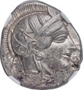 Ancients:Greek, Ancients: ATTICA. Athens. Ca. 454-404 BC. AR tetradrachm (24mm, 17.18 gm, 3h). NGC Choice AU ★ 5/5 - 5/5....