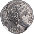 Ancients:Greek, Ancients: ATTICA. Athens. Ca. 454-404 BC. AR tetradrachm (23mm,17.20 gm, 9h). NGC MS 4/5 - 5/5....