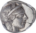 Ancients:Greek, Ancients: ATTICA. Athens. Ca. 454-404 BC. AR tetradrachm (25mm,17.20 gm, 9h). NGC Choice AU 5/5 - 5/5....