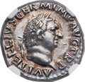 Ancients:Roman Imperial, Ancients: Vitellius (AD 69). AR denarius (18mm, 3.40 gm, 6h). NGC Choice AU 5/5 - 3/5....