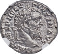 Ancients:Roman Imperial, Ancients: Pertinax (AD 193). AR denarius (19mm, 3.26 gm, 7h). NGC Choice MS 5/5 - 5/5, Fine Style....