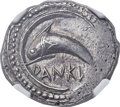 Ancients:Greek, Ancients: SICILY. Zankle (Messana). Ca. 520-493 BC. AR drachm(25mm, 5.71 gm, 4h). NGC AU 4/5 - 3/5....
