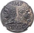 Ancients:Roman Imperial, Ancients: Augustus (27 BC-AD 14), with Marcus Agrippa (died 12 BC).Æ dupondius (26mm, 13.56 gm, 12h). NGC ...