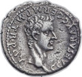 Ancients:Roman Imperial, Ancients: Gaius 'Caligula' (AD 37-41), with Agrippina Sr. (died AD 33). AR denarius (18mm, 3.43 gm, 12h). NGC XF 5/5 - 2/5, light smooth...