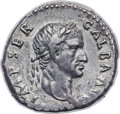 Ancients:Roman Imperial, Ancients: Galba (AD 68-69). AR denarius (19mm, 3.53 gm, 6h). NGC XF3/5 - 4/5, Fine Style....