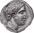 Ancients:Greek, Ancients: PAEONIAN KINGDOM. Lycceius (ca. 359-335 BC). ARtetradrachm (24mm, 12.29 gm, 5h). NGC Choice AU 4/5 - 3/5....