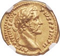Ancients:Roman Imperial, Ancients: Antoninus Pius (AD 138-161). AV aureus (20mm, 7.25 gm, 12h). NGC Choice AU ★ 5/5 - 5/5, Fine Styl...