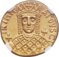 Ancients:Byzantine, Ancients: Irene, joint reign with Constantine VI (AD 780-797). AVsolidus (20mm, 4.40 gm, 7h). NGC MS 4/5 - 4/5....