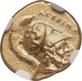 Ancients:Greek, Ancients: LUCANIA. Metapontum. Time of Pyrrhus (ca. 290-279 BC). AVtetrobol or third-stater (14mm, 2.80 gm, 11h). NGC Choice AU 4/5 -4...