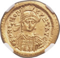 Ancients:Roman Imperial, Ancients: Leo I the Great, Eastern Roman Emperor (AD 457-474). AV solidus (21mm, 4.49 gm, 5h). NGC Choice MS 5/5 - 5/5. ...
