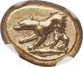 Ancients:Greek, Ancients: MYSIA. Cyzicus. Ca. 500-450 BC. EL sixth stater or hecte(13mm, 2.70 gm). NGC Choice XF ★ 5/5 - 4...