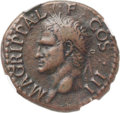 Ancients:Roman Imperial, Ancients: Marcus Agrippa, friend of Augustus (died 12 BC). Æ as (28mm, 10.76 gm, 7h). NGC Choice VF ★ 5/5 -...