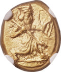 Ancients:Greek, Ancients: ACHAEMENID PERSIA. Time of Darius I to Xerxes II (485-420BC). AV daric (15mm, 8.34 gm). NGC Choice AU 5/5 -4/5. ...