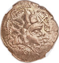 Ancients:Celtic, Ancients: GAUL. Namnetes. Ca. 100-50 BC. EL stater (22mm, 6.97 gm,3h). NGC XF 4/5 - 4/5....