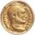 Ancients:Roman Imperial, Ancients: Galerius, as Caesar (AD 293-305). AV aureus (19mm, 5.04gm, 12h). ANACS Fine 15, plugged....