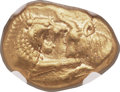 Ancients:Greek, Ancients: LYDIAN KINGDOM. Croesus and later (ca. 561-546 BC). AV stater (17mm, 8.04 gm). NGC AU 5/5 - 3/5, light smoothing....