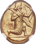 Ancients:Greek, Ancients: ACHAEMENID PERSIA. Time of Darius I to Xerxes II (485-420BC). AV daric (15mm, 8.36 gm). NGC MS 4/5 - 5/5, Fine Style....