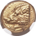 Ancients:Greek, Ancients: IONIA. Phocaea. Ca. 625-522 BC. EL sixth stater or hecte(9mm, 2.59 gm). NGC MS ★ 5/5 - 4/5....